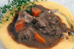Venison Stew with Polenta