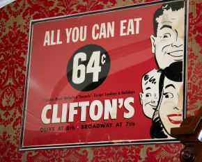 Poster for Clifton's, 1960's