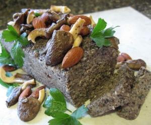 Mushroom Almond Terrine