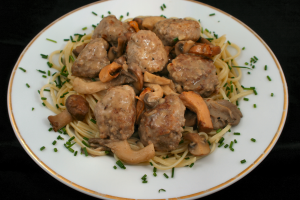 Danish meatballs with Wild Mushrooms