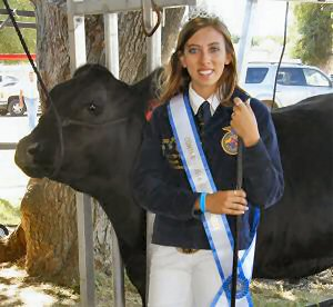 Cierra Provan, 4H queen and her champion steer
