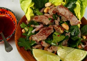 Citrus Marinated Goat Salad