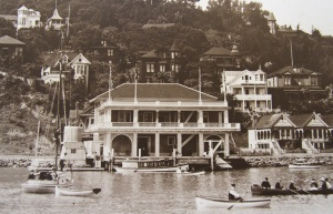 Yacht Club on the waterfront late 1800s