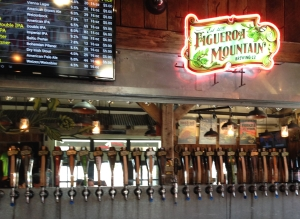The bar at Figueroa Mountain Brewery